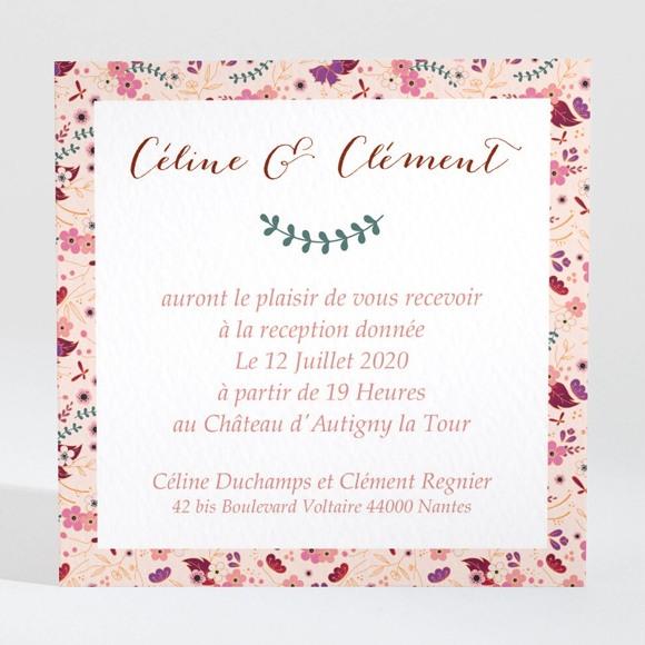 Carton d'invitation mariage Esperluette Liberty réf.N3001390
