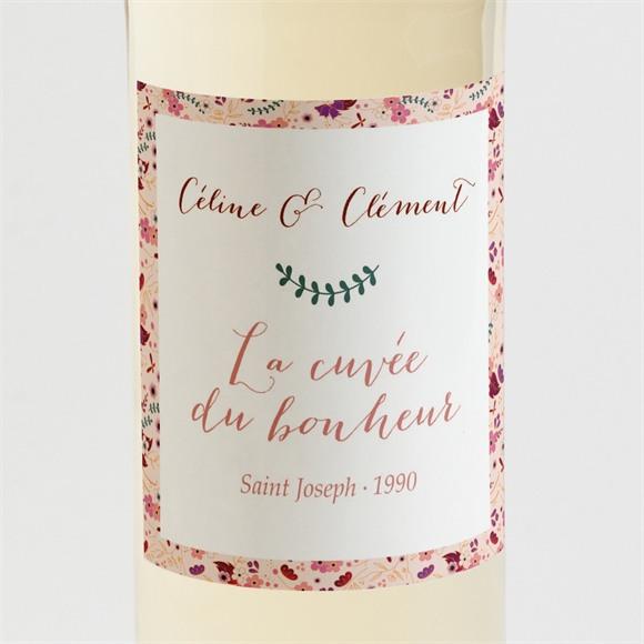 Etiquette de bouteille mariage Esperluette Liberty réf.N3001392