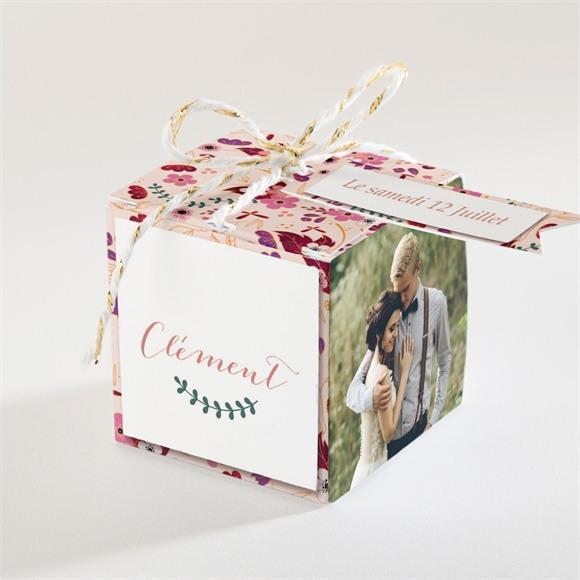 Boîte de dragées mariage Esperluette Liberty réf.N340101