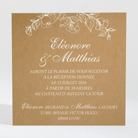 Carton d'invitation mariage Belle découverte réf.N3001393