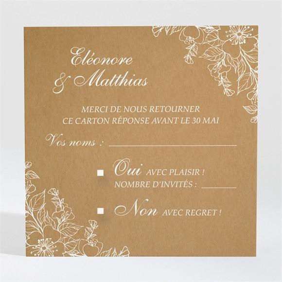 Carton réponse mariage Belle découverte réf.N3001394