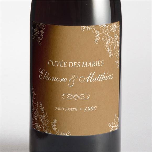 Etiquette de bouteille mariage Belle découverte réf.N3001395