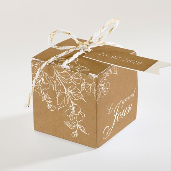 Boîte de dragées mariage Belle découverte réf.N340102