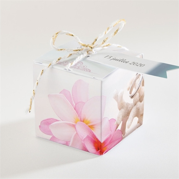 Boîte de dragées mariage Coquillages et crustacés réf.N340103