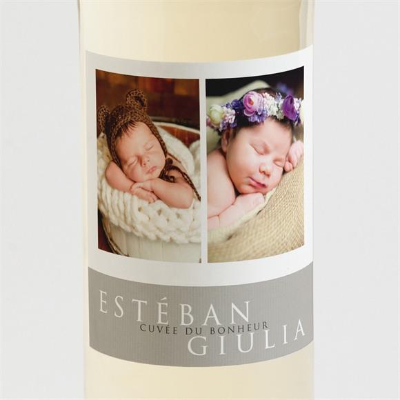 Etiquette de bouteille naissance Eux réf.N3001401