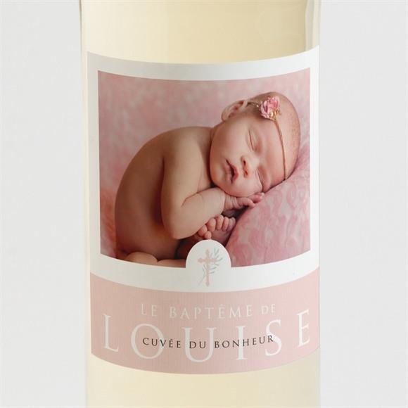 Etiquette de bouteille baptême Poésie minimaliste réf.N3001405