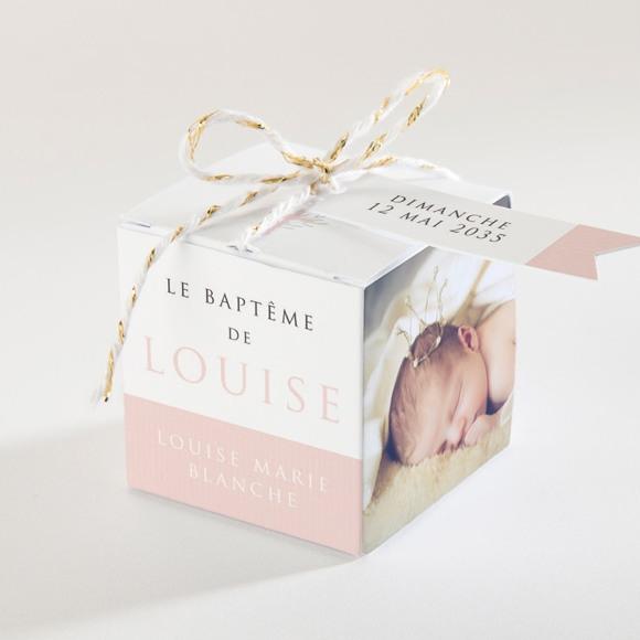 Boîte de dragées baptême Poésie minimaliste réf.N340106
