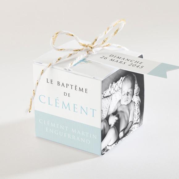 Boîte de dragées baptême Filigrane pastel réf.N340107