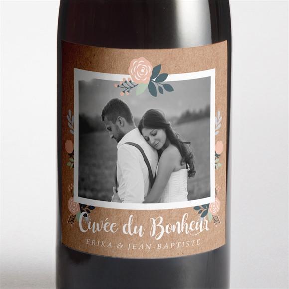 Etiquette de bouteille mariage Délicat dénouement réf.N3001409
