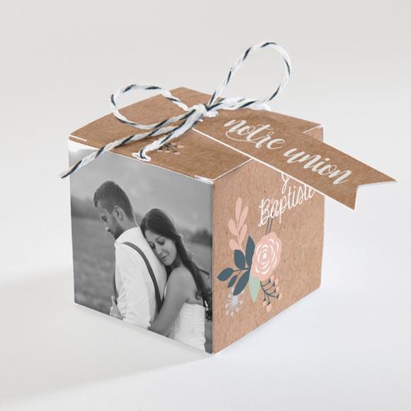 Boîte de dragées mariage Délicat dénouement réf.N340108