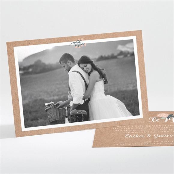 Remerciement mariage Délicat dénouement réf.N111195
