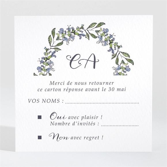 Carton réponse mariage Végétal retro réf.N3001413