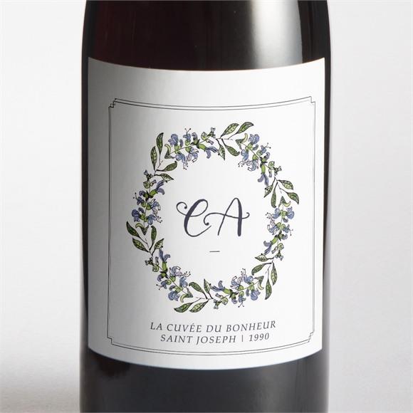 Etiquette de bouteille mariage Végétal retro réf.N3001414