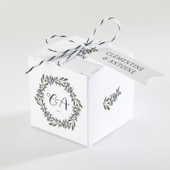 Boîte de dragées mariage Végétal retro réf.N340111