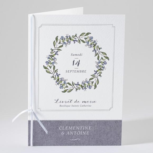 Livret de messe mariage Végétal retro réf.N49103