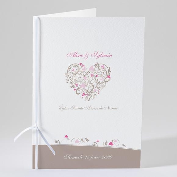 Livret de messe mariage Coeur arabesque réf.N49105