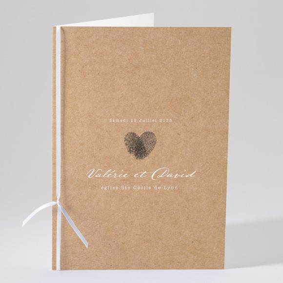 Livret de messe mariage Coeur croisé réf.N49107