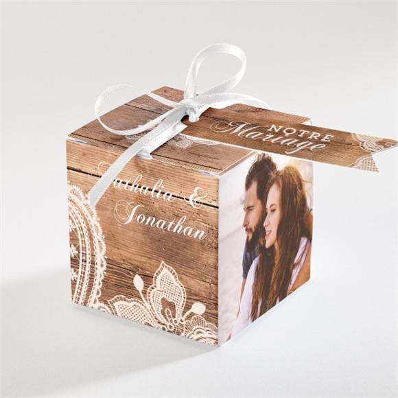 Boîte de dragées mariage Boisé réf.N340115