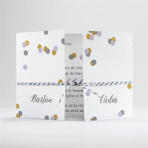 Faire-part mariage Doux confettis réf.N70170