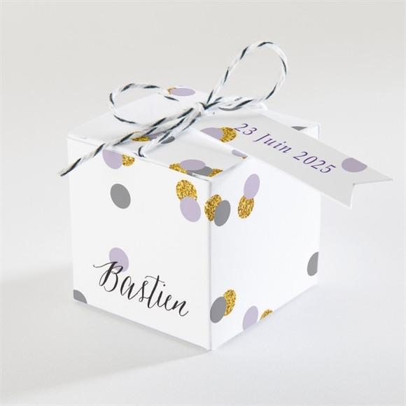 Boîte de dragées mariage Doux confettis réf.N340117