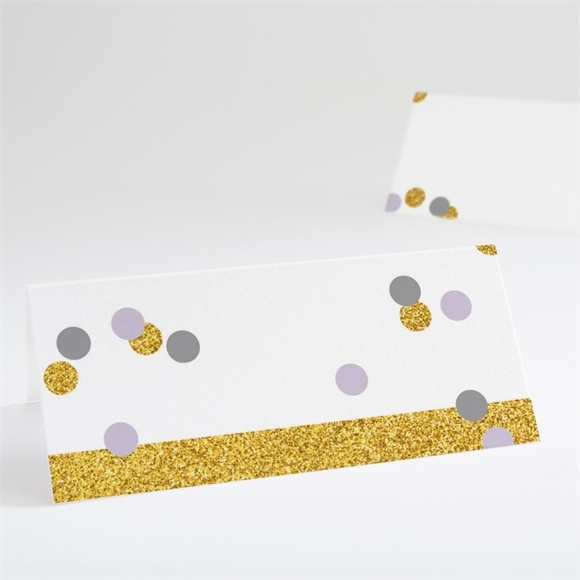 Marque-place mariage Doux confettis réf.N440664