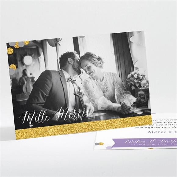 Remerciement mariage Doux confettis réf.N111197