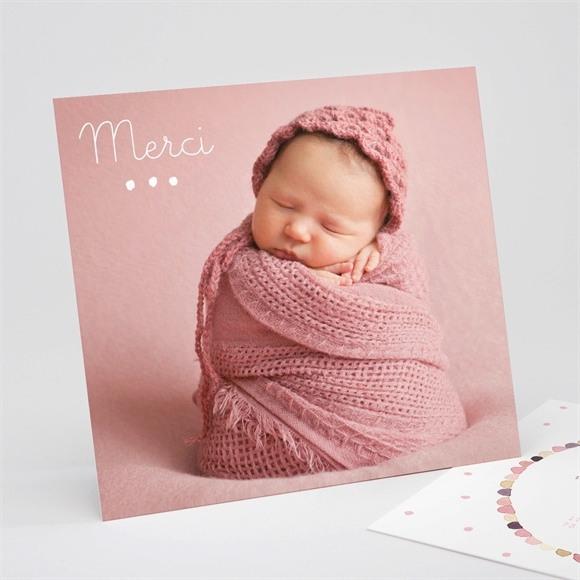 Remerciement naissance Pastel photo réf.N311207