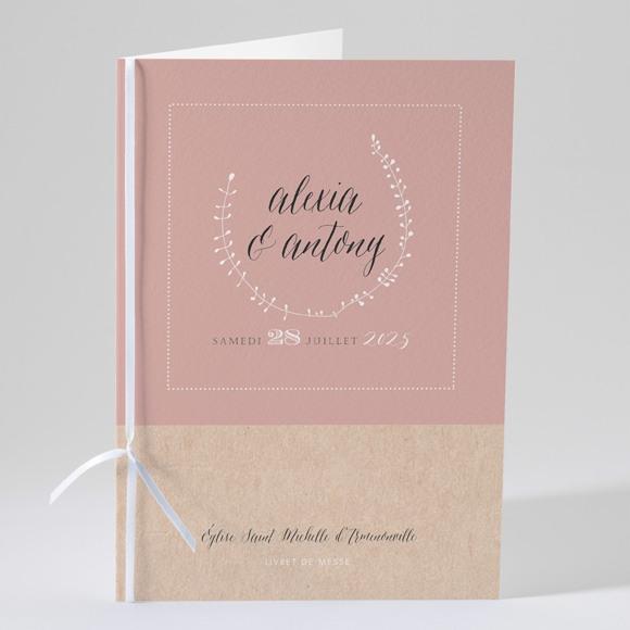Livret de messe mariage Célébration d'amour réf.N49129
