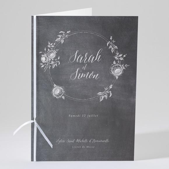Livret de messe mariage Ardoise originale réf.N49130