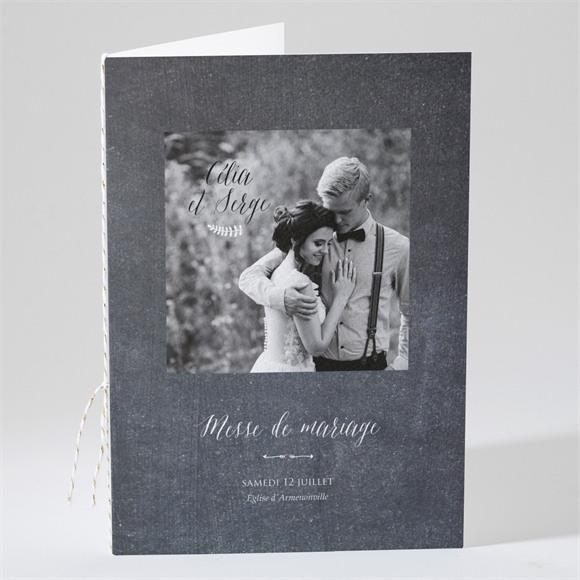 Livret de messe mariage Annonce ardoisée réf.N49132