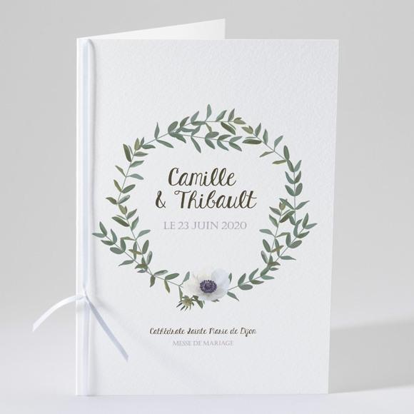 Livret de messe mariage Couronne d'olivier réf.N49141
