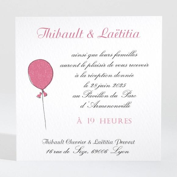 Carton d'invitation mariage Nos 2 petits mariés réf.N3001423