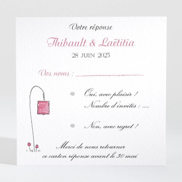 Carton réponse mariage Nos 2 petits mariés réf.N3001424