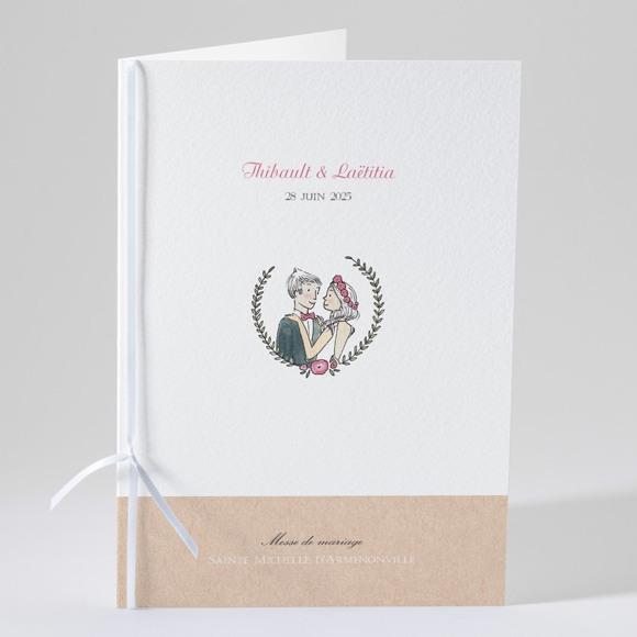 Livret de messe mariage Nos 2 petits mariés réf.N49143