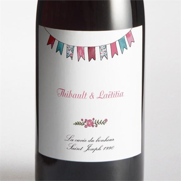 Etiquette de bouteille mariage Nos 2 petits mariés réf.N3001425