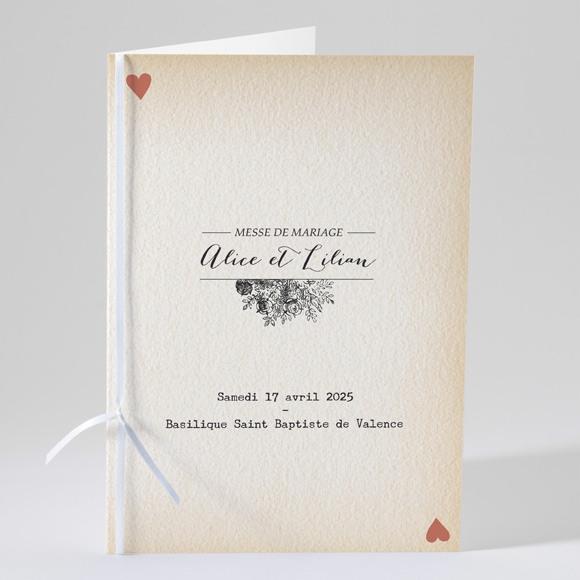Livret de messe mariage Atout Coeur réf.N49146