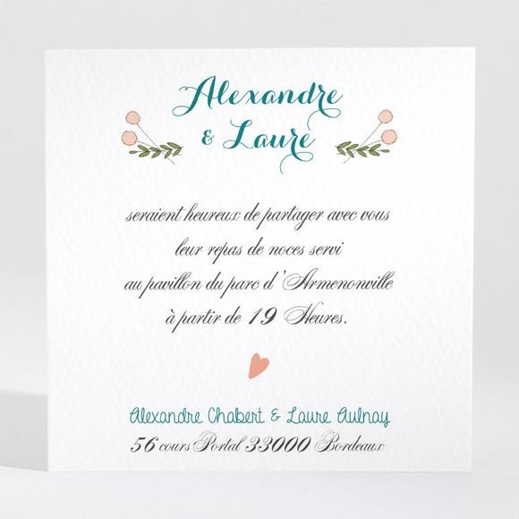Carton d'invitation mariage Bohème réf.N3001426