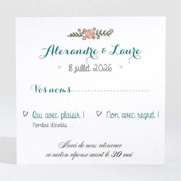 Carton réponse mariage Bohème réf.N3001427