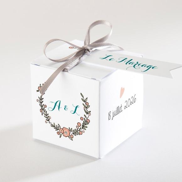 Boîte de dragées mariage Bohème réf.N340128