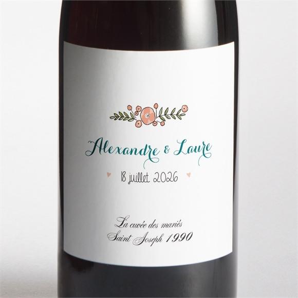 Etiquette de bouteille mariage Bohème réf.N3001428
