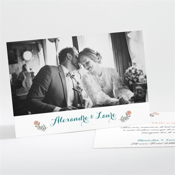 Remerciement mariage Bohème réf.N111207