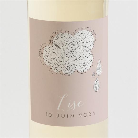 Etiquette de bouteille naissance Pluie de poésie réf.N3001430