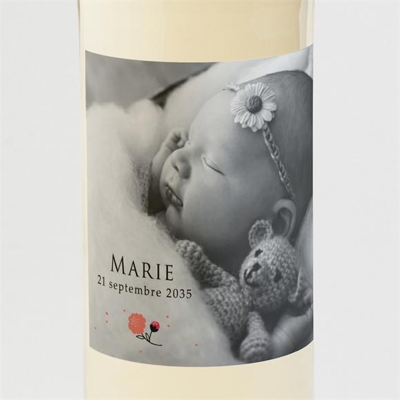 Etiquette de bouteille naissance Douce aquarelle réf.N3001433