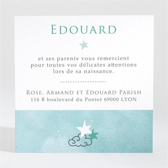 Remerciement naissance Nuage et poésie réf.N3001431