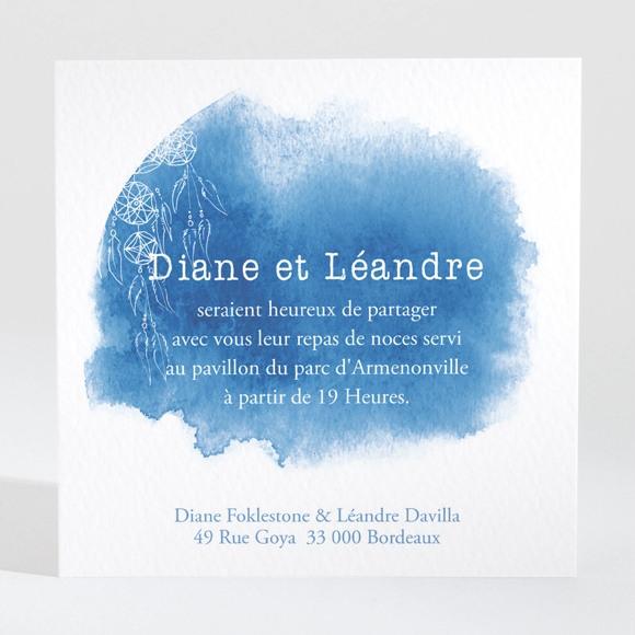 Carton d'invitation mariage Perle d'Aquarelle réf.N3001434