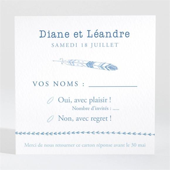 Carton réponse mariage Perle d'Aquarelle réf.N3001435