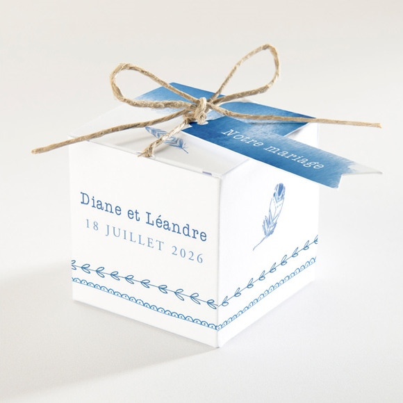 Boîte de dragées mariage Perle d'Aquarelle réf.N340130