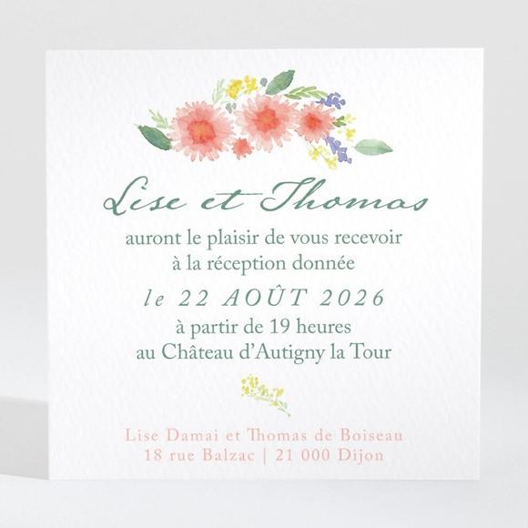 Carton d'invitation mariage Bucolique réf.N3001437