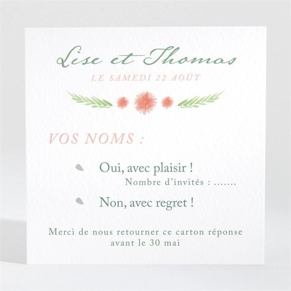 Carton réponse mariage Bucolique réf.N3001438