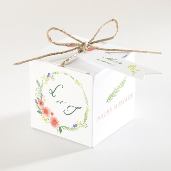 Boîte de dragées mariage Bucolique réf.N340131